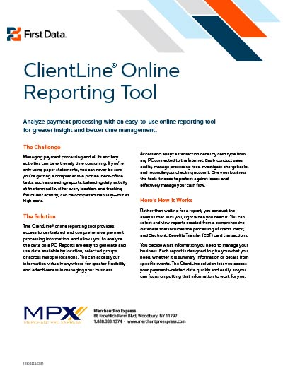 ClientLine Online Reporting Tool